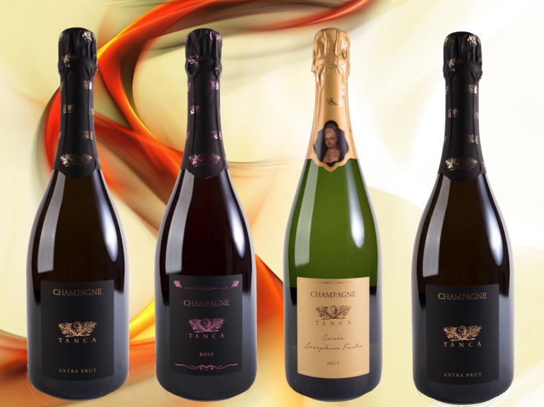 bottiglie di champagne Tanca