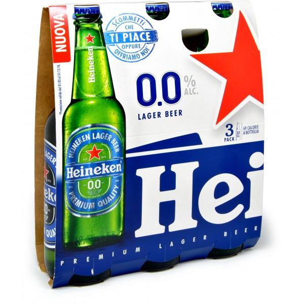 Heineken confezione bottiglie birra analcolica
