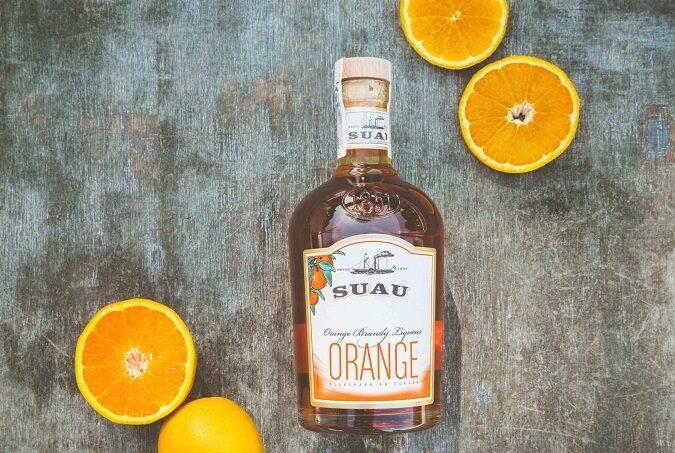 Suau Orange Brandy Liqueur, bottle
