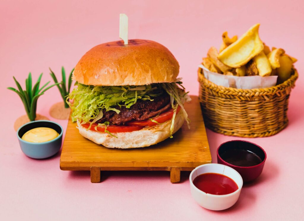Hamburger Queen Makeda Beyond Burger vegano