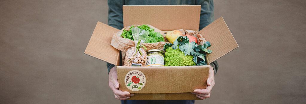 scatola Io mangio locale, consegna domicilio