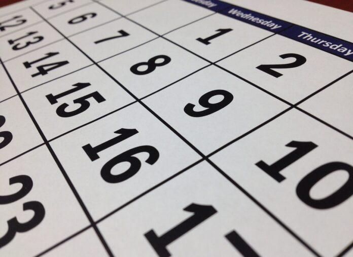 calendario, credito locazioni