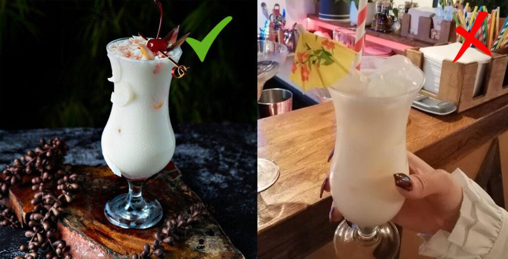 foto cocktail con differenti sfondi