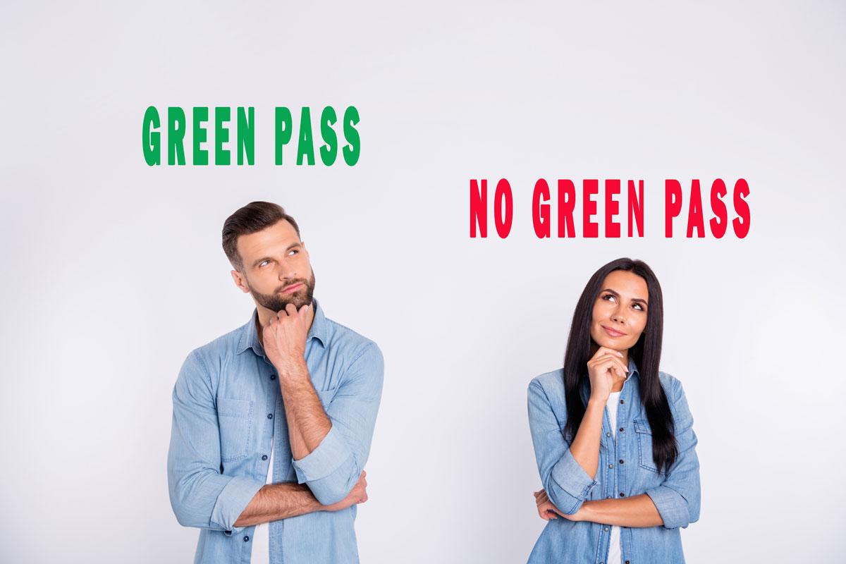 Uomo e donna green pass