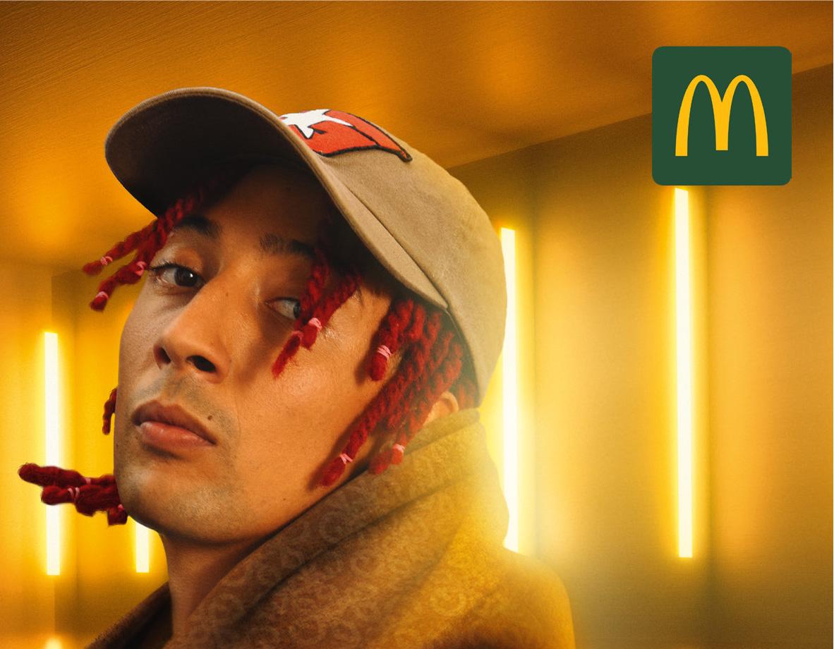 Ghali, campagna per McDonald's