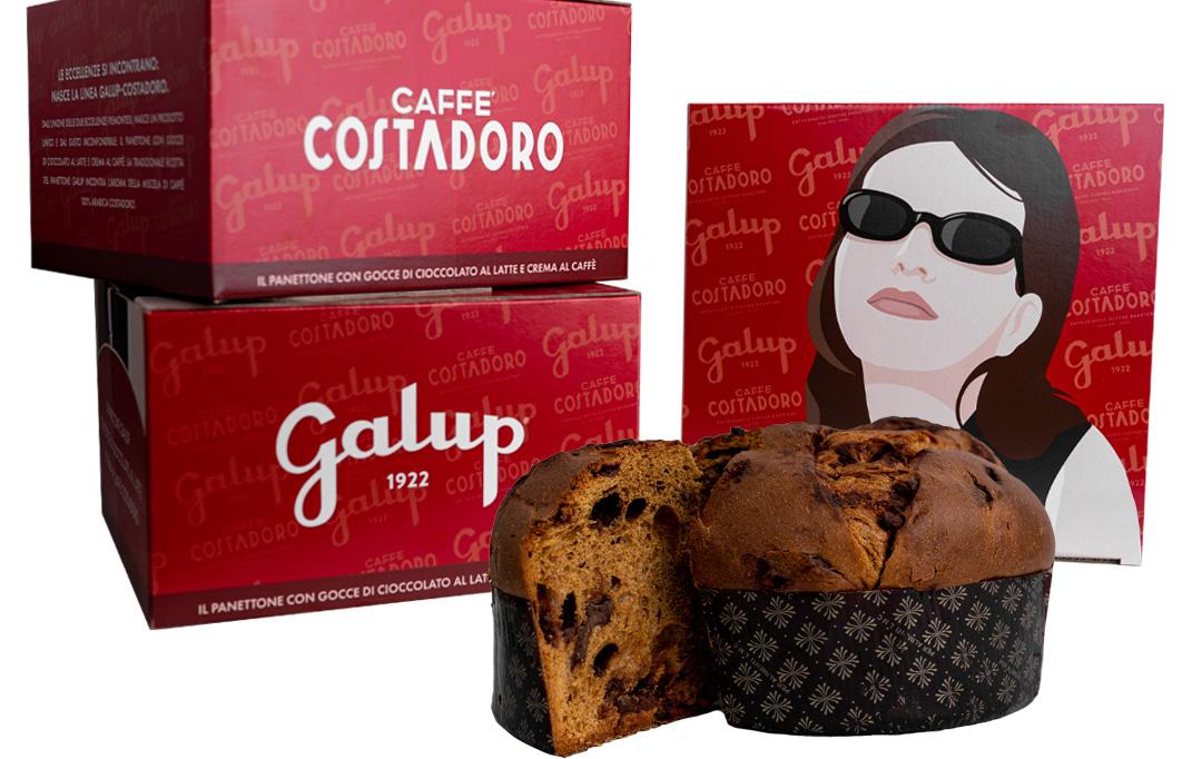 panettone Galup al caffè Costadoro